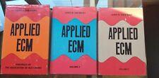 APPLIED ECM volume 1, 2 & 3