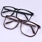 Unisex Oversized Retro Tortoise Shell Nerd Geek Clear Lens Plain Glasses Deft