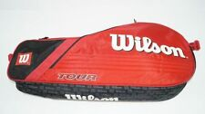 * nuevo * wilson Tour 3 Pack red tenis bolsa 3er Classic pro rojo negro holder New