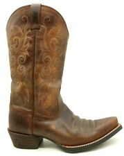 Ariat ATS Brown Leather Cowboy Western Boots Shoes Women's 7 B