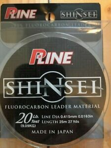 P-Line Shinsei Fluorocarbon Leader Material, 20 Lb Test, 27 Yards