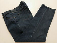 Wrangler Mens Pants Size 46x32 Big & Tall Slacks Blue Denim Jeans Relaxed Fit