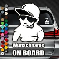 A62# Aufkleber Wunschname on Board Kind an Bord Baby Name Hangover Sticker Auto
