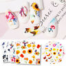 Nail Water Decals Colourful Butterfly Water Transfer Nail Art Stickers Decals