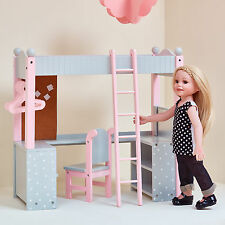 Doll Bunk Bed American Girl 18 Inch Dolls Furniture Desk Mattress Ladder New