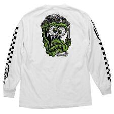 Creature Grease Monkey Long Sleeve Skateboard Shirt White Xxl