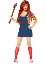 Girls Chucky Doll Costume Kids Horror Chucky Doll Halloween Fancy Dress Children