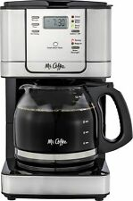 Mr. Coffee - 12-Cup Coffee Maker with Strong Brew Selector - Stainless Steel