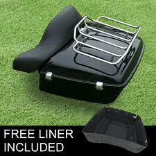 King Tour Pak w/ Luggage Rack Backrest For Harley Touring Electra Glide 14-17 15