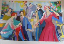 Israeli Art/Judaica Michael Kerman Classy Affair Lithograph Signed Numbered COA