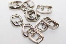 10x kleine Gürtelschnalle Schnalle Schliesse in Silber für 10 mm Breite