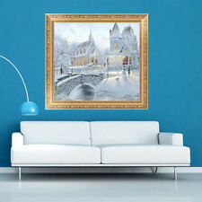 5D Diamond DIY Snow Painting Winter Castle Cross Stitch Embroidery Home Decor