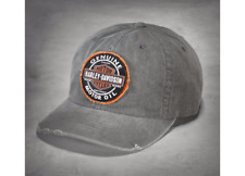 Harley Davidson Genuine Mens Oil Patch Cap Baseball Style Grey