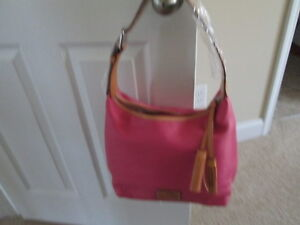 NWT Dooney & Bourke Patteron Leather Paige Sac Hobo -MSRP $198- Pink