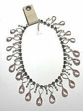 ANTHROPOLOGIE PINK TEARDROP BIB NECKLACE -- NEW WITH TAG