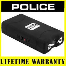 POLICE Mini Stun Gun 800 Black 50 BV Rechargeable With LED Flashlight Taser Case