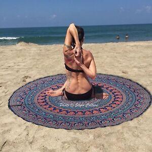 Bohemian Cotton Round Beach Towel Tapestry Indian Beach Mandala Yoga Mat Throw