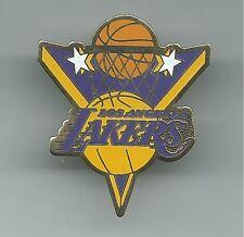 NBA Los Angeles Lakers Triangle Pin Basketball Hoop Stars Stamped 2000 OOP MAGIC