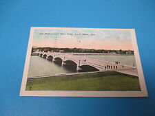 West Leonard St Bridge Grand Rapids Mich Postmarked Vintage Color Postcard PC28