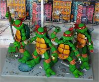 Teenage Mutant Ninja Turtles Figure Model RED Headband 4PCS Collectible Set