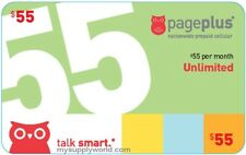 Page Plus Cellular Monthly Plan $55 Refill  (We Load Diretly to Your Account)