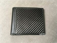 Real Carbon Fiber Leather Wallet Green no logo ID card holder for men e36 e46