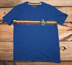 An Original Penguin Boys Blue T- Shirt Casual Top Crew Neck 12 / 13 Years