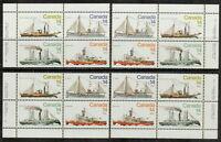 CANADA #776-779 14¢ Ice Vessels Match Set of Inscription Blocks MNH