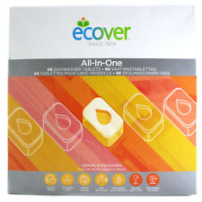 Ecover All-In-One Lemon & Mandarin Flavour Pack of 68 Dishwasher Tablets