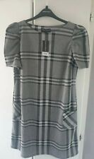 DOROTHY PERKINS GREY CHECKED SHIFT DRESS Size 18 BNWT (#D27)