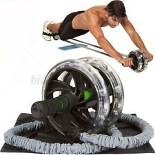 1PC Ab Roller Wheel Pull Rope Waist Abdominal Slimming Fitness Equipment