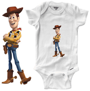 Infant Gerber Onesies Bodysuit Newborn Baby shower Gift Cowboy Woody Toy Story