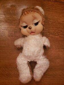 "Vintage RushtonTeddy Bear Plush Stuffed Animal Rubber Face 15"""