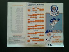 1975 Detroit Tigers Baseball Tri-Fold Schedule~Ticket Brochure~Roster~RARE