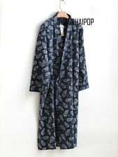 Men Kimono Yukata Pajama Cotton Soft Japanese Bathrobe Robe Gown Nightwear Comfy