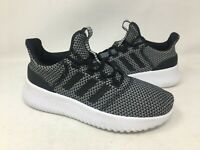 NEW! Adidas Youth Cloudfoam Ultimate Black/White Running Shoes #AQ1689 G15D m
