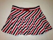 Crazy 8 Girls 4T Skort Red Pink Black White Candy Stripe