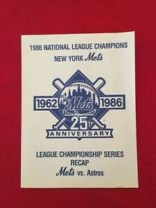 1986 MLB NLCS media guide / Houston Astros-New York Mets / Gooden / Strawberry