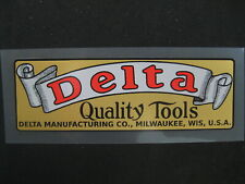 New listing Vintage Delta Quality Tools decal - Perfect For That Reconditioned Machine