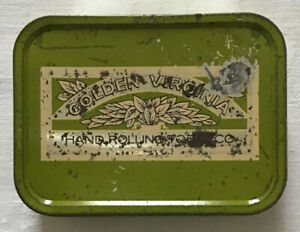 Vintage Golden Virginia Hand Rolling Tin - WD & HO Wills Green/Cream Colour 50g