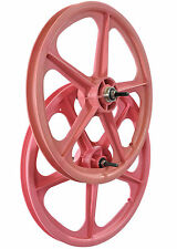 "PAIR SKYWAY MAG WHEELS ORIGINAL TUFFll PINK 20"" SUIT BMX/FREESTYLER  RRP £129.95"