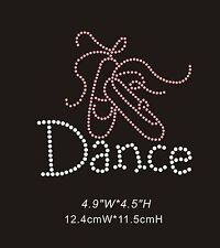 Dance Shoes Diamante Rhinestone Crystals Iron On Transfers XRSTN047