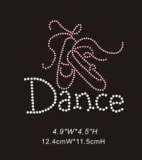 Dance Shoes Diamante Rhinestone Crystals Iron On Transfers