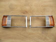 MAZDA 929L LUCE HEADLAMP DOOR BEZEL LIGHT CASE with CORNER LENS CHROME 1981-82