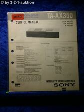 Sony Service Manual TA AX350 Amplifier (#3650)