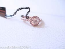 ANELLO solitario diamanti brillanti champagne ct 0.65 vvs oro rosa 18kt - mis 10