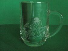Personalised Freehand Engraved Pint Beer Glass Tankard Sport Motorbike Name FREE