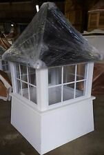 36'' vinyl window Cupola Beautiful and high quality,black aluminum roof as shown