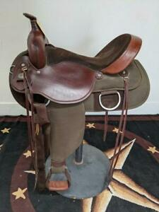 "15.5"" Used Fabtron Western Trail Saddle 373-2119"