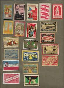 AUSTRIA CZECHOSLOVAKIA MATCHBOX LABELS ON AND OFF PAPER LOT 2